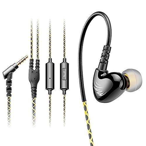 AGPTek-Auricolare-In-ear-Fare-SportLa-riduzione-del-rumore-35mm-Verde-0
