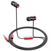 AUKEY-Auricolare-In-Ear-Stereo-Universale-Cuffie-Moving-coil-Headset-con-Microfono-Design-avanzato-per-Enhanced-Bass-Bassi-Rafforzati-in-Riduzione-del-rumore-Rosso-0-0