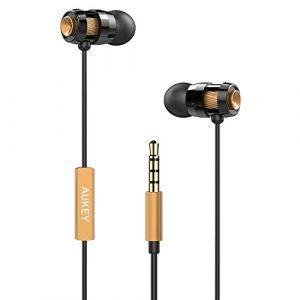 AUKEY-Auricolari-Cuffie-In-Ear-Stereo-Headset-con-Vivavoce-Design-avanzato-di-Funzione-di-Enhanced-Bass-Bassi-Rafforzati-in-Riduzione-del-rumore-Audio-dOttone-0