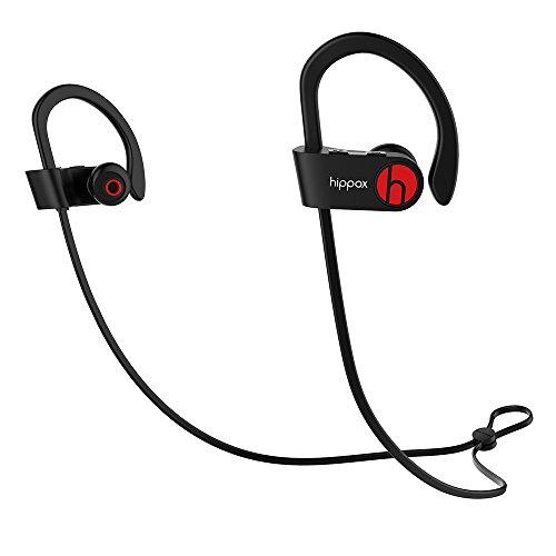 HIPPOX-Cuffie-Bluetooth-Resistente-al-sudore-IPX4-Wireless-Auricolari-Sportivi-con-Microfono-a-prova-di-rumore-per-Palestra-Corsa-e-Trekking-Compatibile-iPhone-7-Samsung-dispositivi-Android-0