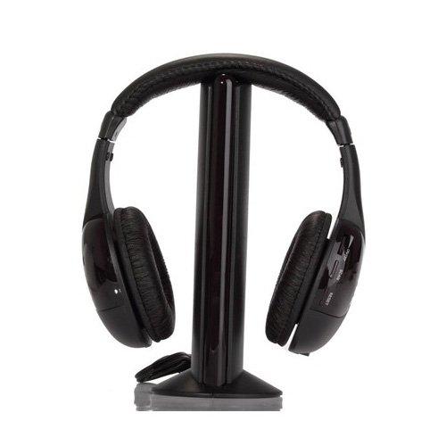SODIALTM-5-in-1-Hi-Fi-cuffie-Wireless-per-HDTV-TV-VCD-PC-MP3-MP4-CD-DVD-con-FM-Radio-0