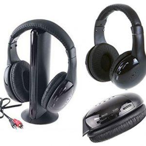 takestop-CUFFIA-5-IN-1-WIRELESS-SENZA-FILO-RADIO-FM-MP3-PC-TV-AUDIO-AURICOLARE-0